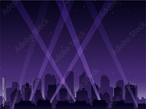 Photo  Party city at night
