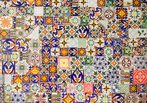 Poster Graffiti ceramic tiles patterns