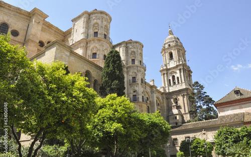 Malaga, Altstadt, Kathedrale, Sommer, Spanien