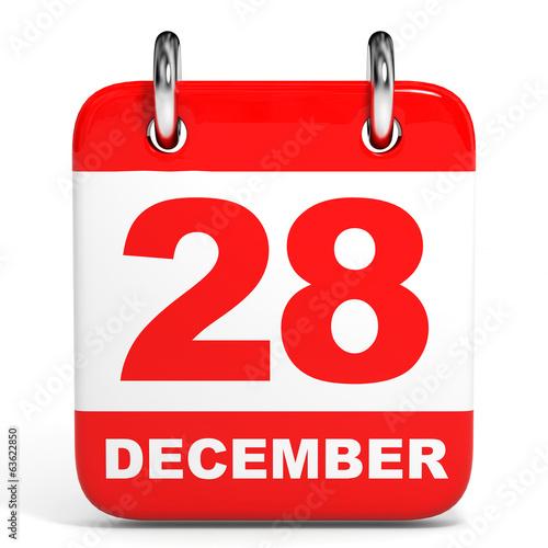 Fotografia  Calendar. 28 December.