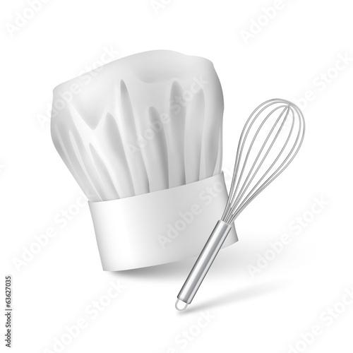Fotografia  Fouet et toque de cuisinier vectoriels 1
