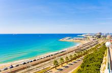 Coast Tarragona: Sea, Railway ...