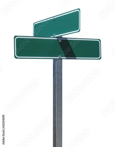 Fotografie, Obraz  Blank Green Street Sign