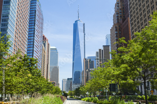 West Street and World Trade Center, New York Plakat