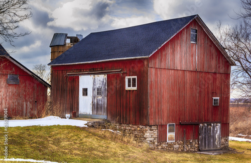 Fotografie, Obraz  Red Country Barn with New Roof