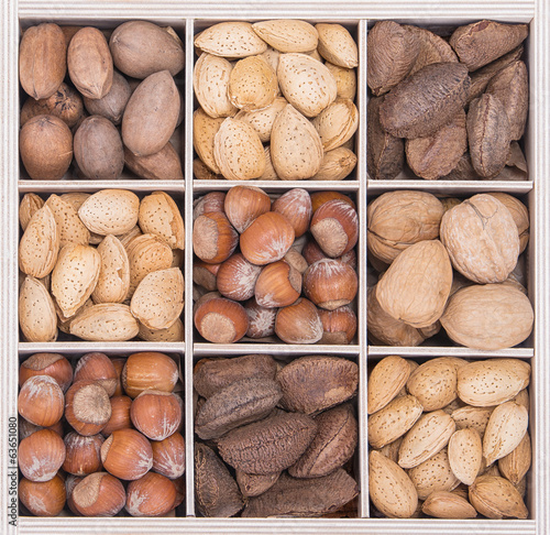 Spoed Foto op Canvas Baobab Mix nuts in crate