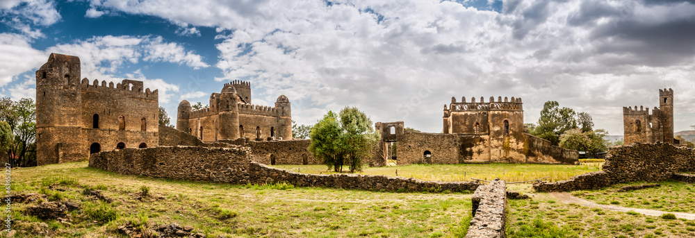Fototapety, obrazy: Panorama view at the Fasilides castle