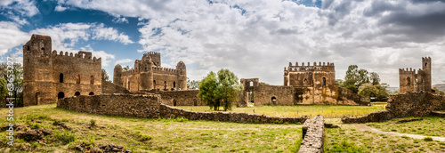 Aluminium Prints Africa Panorama view at the Fasilides castle