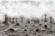 Vintage Cemetery Background