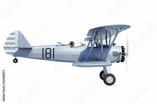 Biplane isolated Canvas-taulu