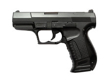 Airsoft Pistol Isolated On Whi...