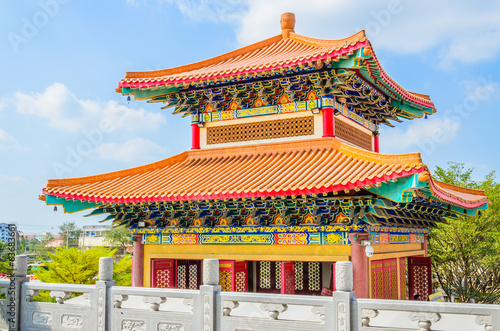 Canvas Print Chinese temple in Thailand