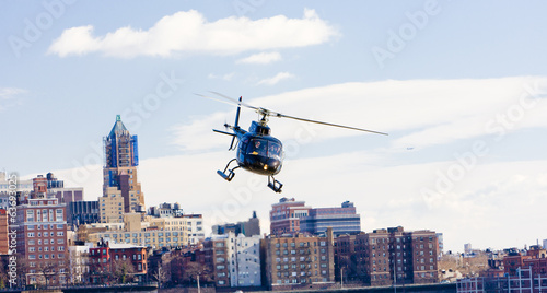 Keuken foto achterwand Helicopter helicopter, Brooklyn, New York City, USA
