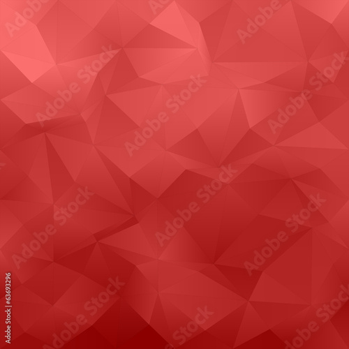 Red abstract irregular triangle pattern background