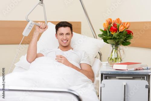 Fotografie, Obraz  Pacient im Krankenhaus
