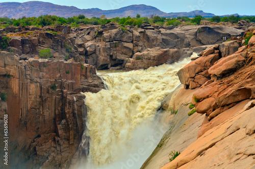 Küchenrückwand aus Glas mit Foto Wasserfalle Magnificent Augrabies waterfall and canyon, South Africa