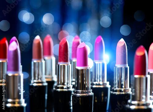 Fotografie, Obraz  Fashion Colorful Lipsticks. Professional Makeup and Beauty