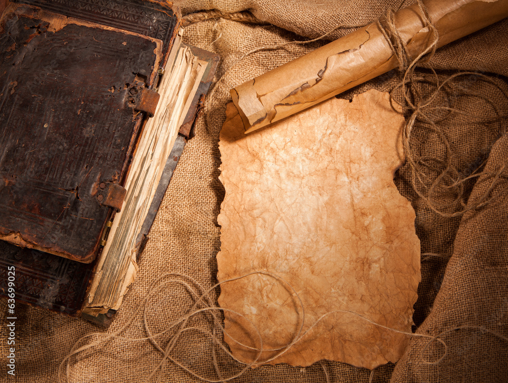 Fototapeta antique book and old papers