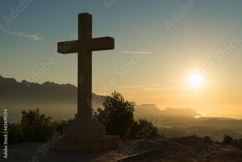 Fotografía  Cruz de piedra