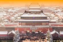 The Forbidden City In Winter,B...
