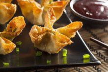 Asian Crab Rangoons With Sweet...