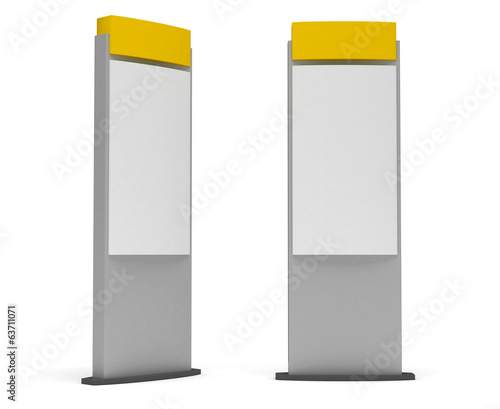 Blank Sign Tower Wall mural