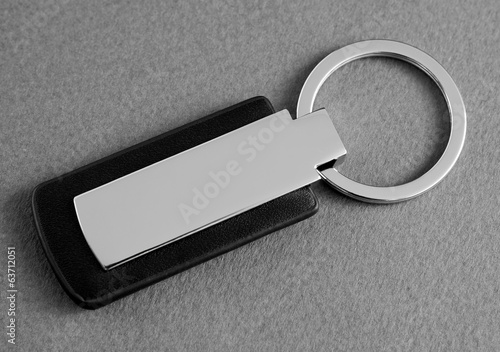 Photo keychain with space for text or logo.