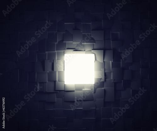 fototapeta na lodówkę Light box and shadows in a lot of cubes