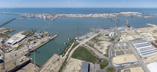 panoramic Puerto Real shipbuilding