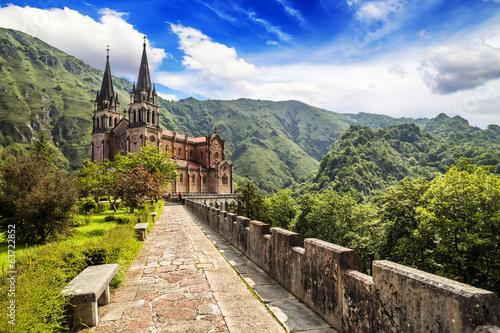 Basilica of Our Lady of Battles, Covadonga, Asturias, Spain. Wallpaper Mural