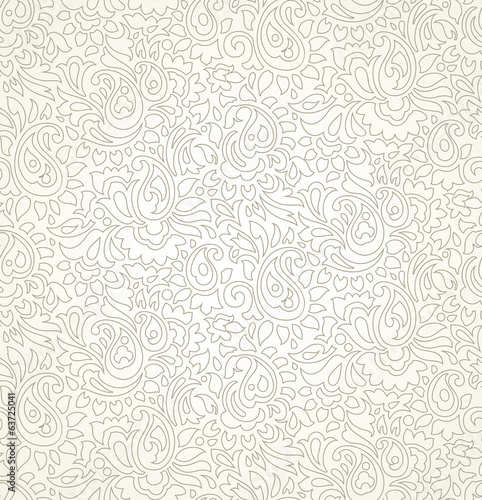 Paisley Seamless Wedding Card Background Buy This Stock