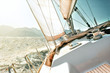 canvas print picture - Yacht sailing