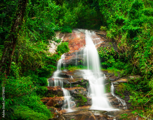 Deurstickers Groene Doi Suphet national park waterfall, Chang Mai,Thailand