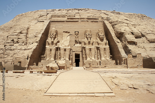 Photo Stands Egypt The Great Temple, Abu Simbel , Egypt