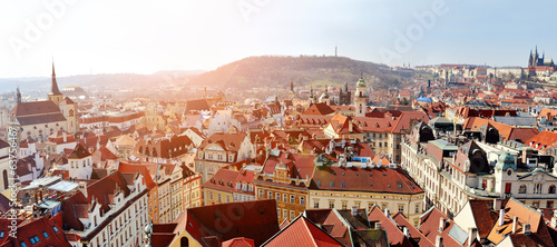 Fotoposter Praag Prague panoramic view from Old Town Hall Tower, Czech Republic