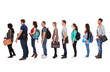 canvas print picture - Multiethnic College Students Standing In A Row