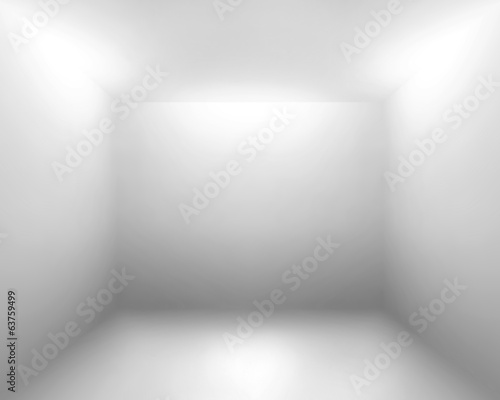Fototapety, obrazy: White gray room abstract background