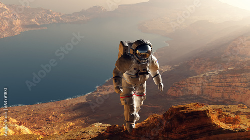 Photo  The astronaut