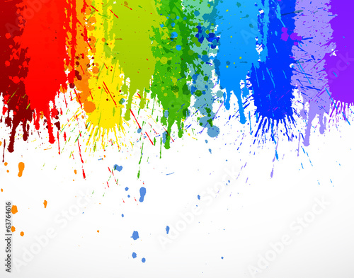 Foto op Canvas Vormen Abstract rainbow background