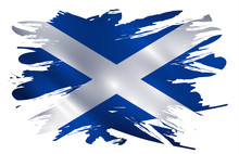 Scotland Flag Paint Splash Vec...