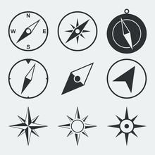 Navigation Compass Flat Icons ...