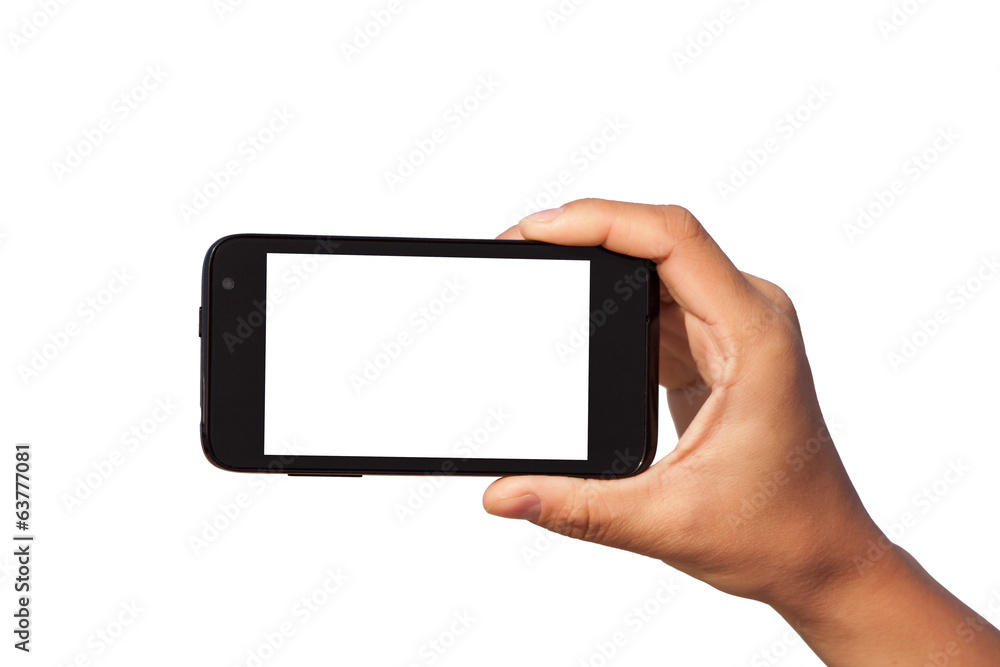 Fototapety, obrazy: smartphone in hand