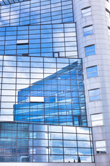 Modern facade of glass and steel.
