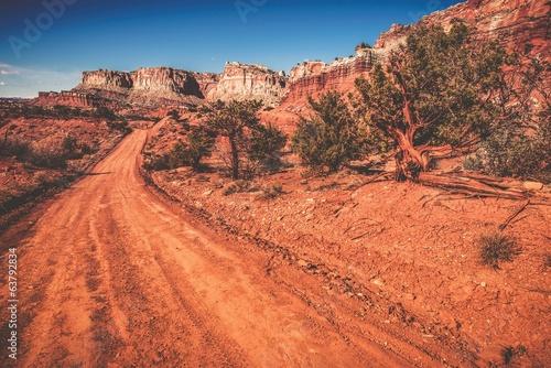 Foto op Canvas Baksteen Utah Wilderness Road