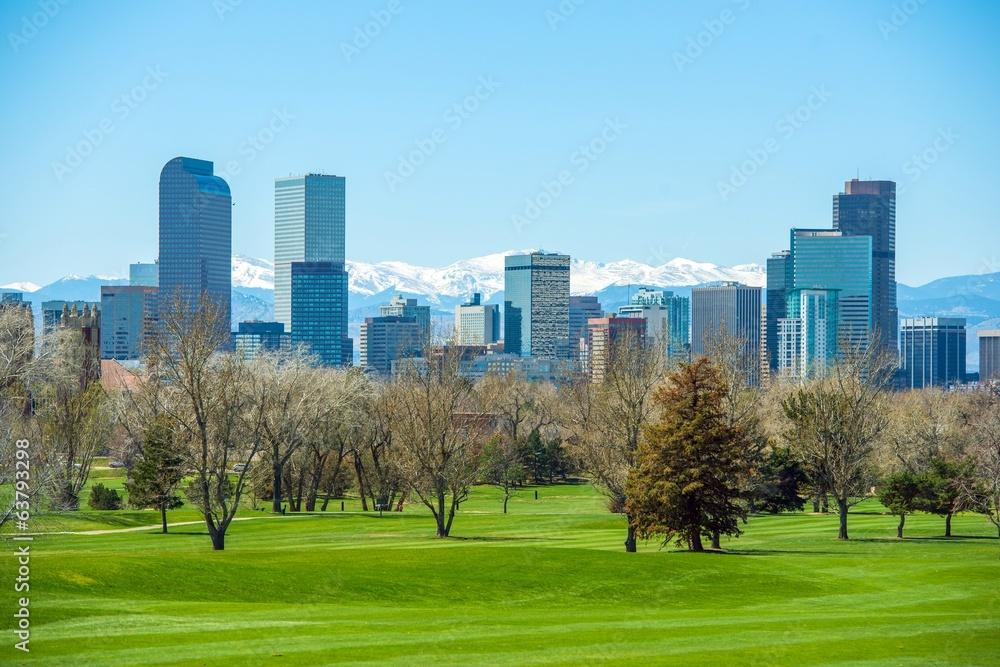 Fototapeta Sunny Denver Skyline