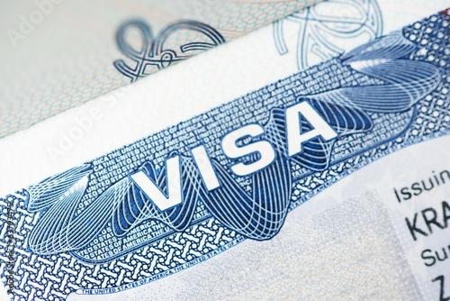 Fototapeta Americký Visa Detailním
