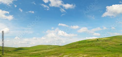 Obraz na płótnie hills and sky