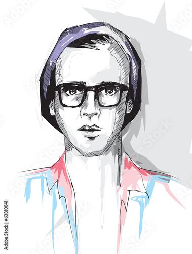 fashion man face