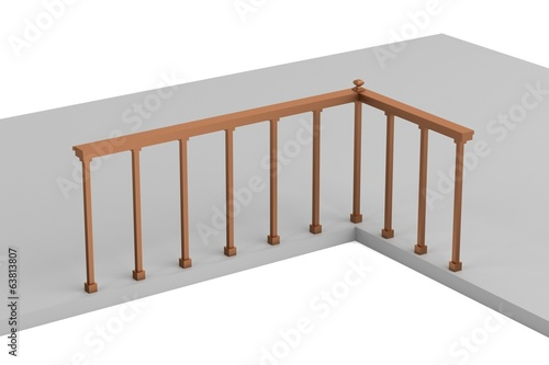 Fototapeta realistic 3d render of railing obraz na płótnie