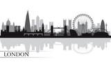 Fototapeta Londyn - London city skyline silhouette background